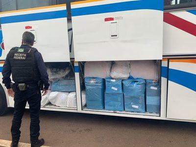 Receita Federal retiene tres buses turísticos provenientes de Paraguay