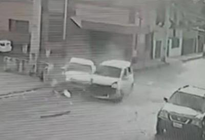 """Otro choque en la """"Esquina de los Accidentes"""""""