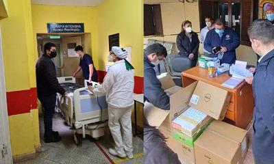 Lote de equipos para UTI fueron entregados al Hospital Regional de Coronel Oviedo
