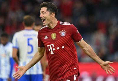 Goleada del Bayern al Hertha con triplete de Lewandowski