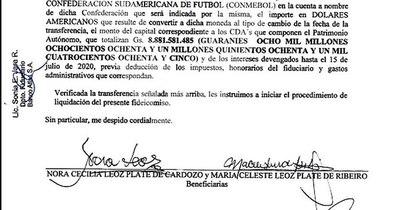 La Nación / El pedido letal para Atlas: Herederas de Leoz ordenaron devolver dinero a Conmebol