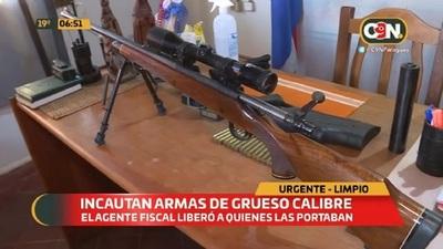 Incautan armas de grueso calibre