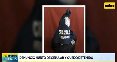 Hombre que denunció robo de celular queda detenido