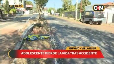 Adolescente pierde la vida tras accidente