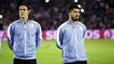 Uruguay pierde a Suárez y Cavani para la triple fecha de las Eliminatorias