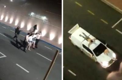 Crónica / Robo de película en Brasil ¡ataron a rehenes por techos de vehículos!
