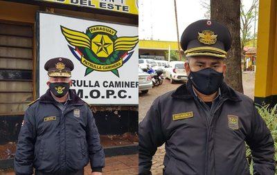 Altos jefes de la Patrulla Caminera ostentan lujosas camionetas, producto de las coimas