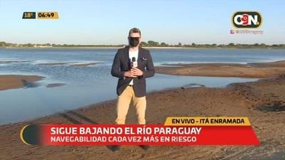Bajante del Río Paraguay afecta al comercio fluvial