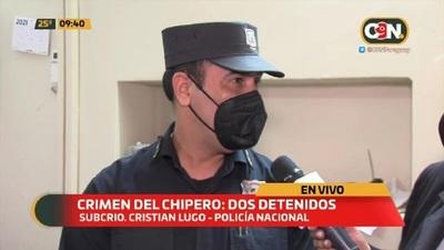 Crimen del chipero: Dos detenidos