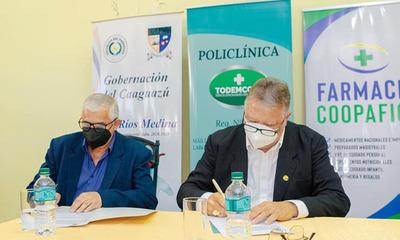 Coopafiol firma acuerdo de cooperación con Facultad de Medicina UNCA y Gobernación de Caaguazú