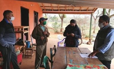 Realizan censo para productores de Caazapá en el marco del Programa de Seguridad Alimentaria