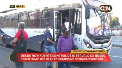 Desde hoy: Fuerte control de intérvalo de buses