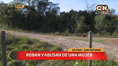 Denuncian robo y abuso a una mujer en San Antonio