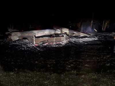 Desconocidos queman una vivienda en Minga Guazú