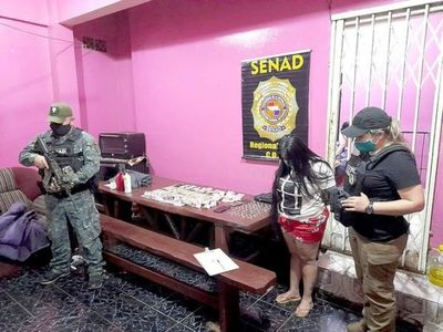 """En """"duro golpe"""" a narcos, SENAD incauta 11,9 gramos de cocaína en CDE"""