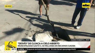 Desvío de cloaca desespera a pobladores del barrio Roberto L. Petit