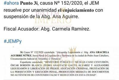 Enjuician y suspenden a jueza de Amambay