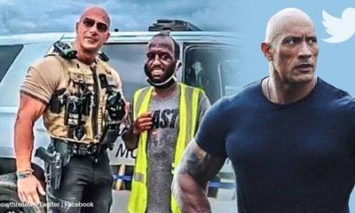 """Foto de oficial de policía se vuelve viral por su parecido a Dwayne """"The Rock"""" Johnson"""