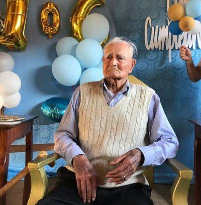 Don Antolín Sánchez, héroe de la Guerra del Chaco cumplió hoy 106 años de vida