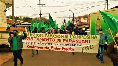 FNC repudia proyecto de ley y marchan por abandono del Estado a campesinado