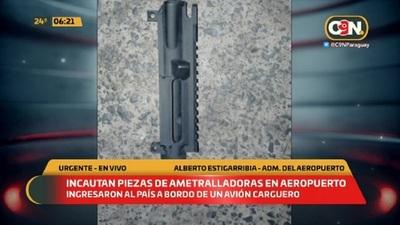 Incautan piezas de ametralladoras en Aeropuerto
