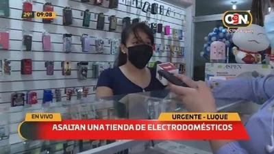 Asaltan una tienda de electrodomésticos en Luque