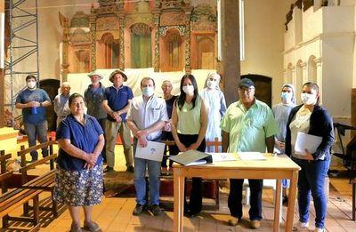 Firman acta de inicio de obras de emergencia en el templo jesuita de San Joaquín