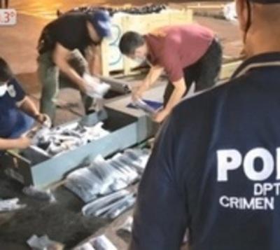 Incautan cargamento de 40 fusiles desarmados llegados de EEUU