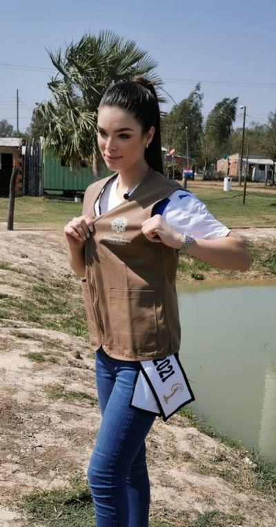Miss Universo Paraguay, Nadia Ferrera, participó en programa Ñapu'ãke