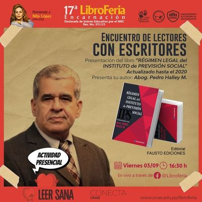 Régimen legal del IPS será tema de encuentro en la Libroferia de Encarnación