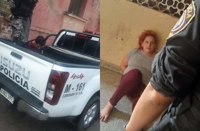Detienen a pareja que asaltó a pasajeros de un bus tras una larga persecución