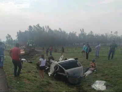 Dos fallecidos tras accidente rutero en Misiones · Radio Monumental 1080 AM
