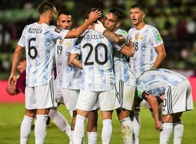 Argentina vence a Venezuela a domicilio
