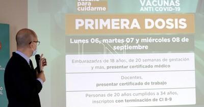 La Nación / Reactivarán aplicación de primera dosis para mayores de 20 años, embarazadas y docentes