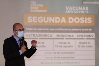 Rezagados podrán recibir vacunas desde el lunes 6 de septiembre