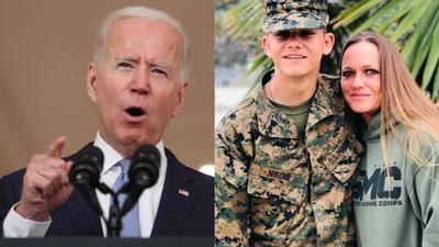 La madre de marine asesinado en Kabul, fue censurada en Instagram por criticar a Biden