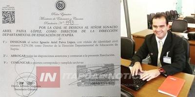 NUEVO DIRECTOR DE EDUCACIÓN PARA EL DEPARTAMENTO DE ITAPÚA