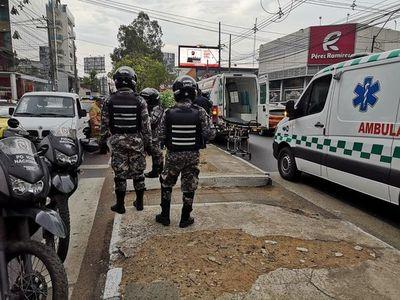 Asaltan y hieren a conductor sobre avenida San Martín