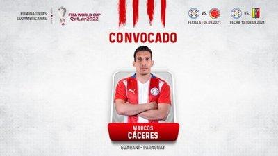 Marcos Cáceres, citado a la selección