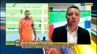 Johan Gómez en contacto con Tigo Sports.