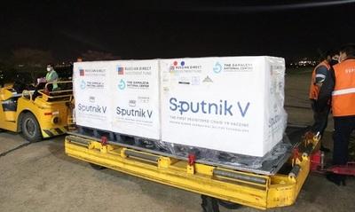 Paraguay recibió 35.000 dosis del Componente II de Sputnik-V