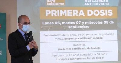La Nación / Reactivarán desde el lunes la aplicación de primera dosis