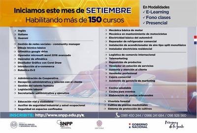 150 cursos de capacitación laboral arranca el próximo 7 de setiembre