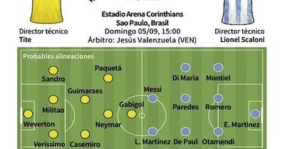 La Nación / Brasil ante Argentina, en un clásico mundial
