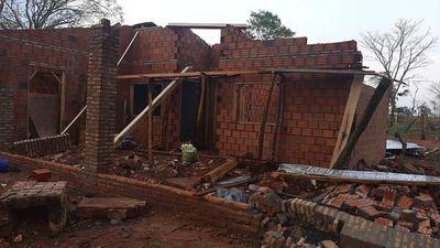 Temporal causó destrozos en varios distritos del Departamento de Caaguazú