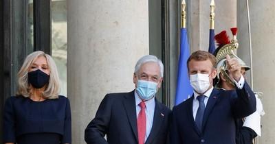La Nación / Macron recibió a Piñera para abordar proceso político en Chile y COVID-19