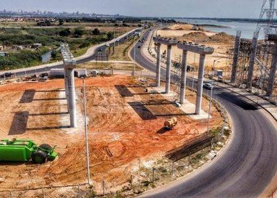 Colocan primeras capas del paquete estructural del Puente Héroes del Chaco