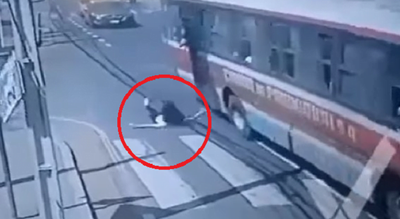 Joven que cayó del bus tras asalto se encuentra grave e intubada