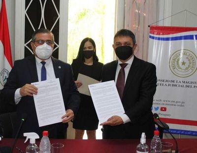 Consejo de la Magistratura y Senac firman acuerdo para detección y sanción de la corrupción