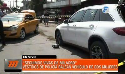 Violento asalto tipo comando contra dos mujeres